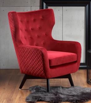 Tapicerowany fotel w stylu glamour Marvel