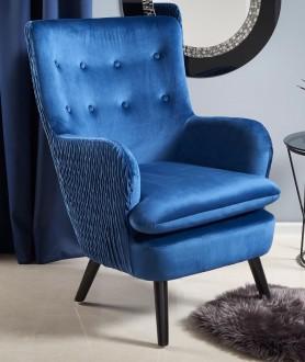Wypoczynkowy fotel tapicerowany w stylu glamour Ravel