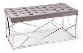 Ławka z tapicerowanym siedziskiem w stylu glamour Milagro