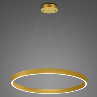 Złota lampa wisząca LED ring 3K Billions No 4 100 cm