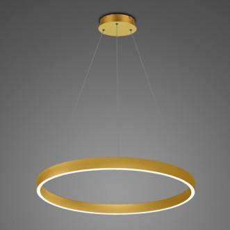 Złota lampa wisząca LED ring 3K Billions No 4 80 cm