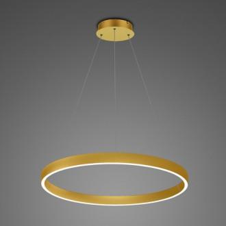 Złota lampa wisząca LED ring 3K Billions No 4 60 cm