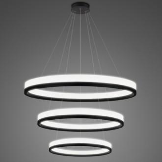 Potrójna lampa ledowa ringi 4K Billions No 3 100 cm biało-czarna