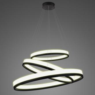 Potrójna lampa ledowa ringi 3K Billions No 3 80 cm biało-czarna