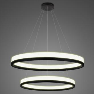 Podwójna lampa ledowa ringi 3K Billions No 2 100 cm biało-czarna