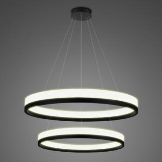 Podwójna lampa ledowa ringi 3K Billions No 2 80 cm biało-czarna