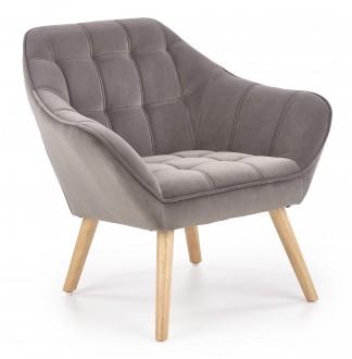 Fotel wypoczynkowy na drewnianych nogach Romeo