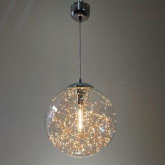 Szklana lampa wisząca z ozdobnymi diodami Glamour A 40