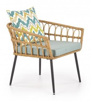 Rattanowy fotel ogrodowy z podłokietnikami Gardena 1S