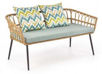 Dwuosobowa sofa ogrodowa z rattanu Gardena 2S