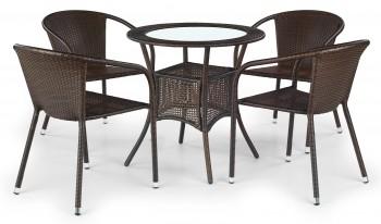 Okrągły stół rattanowy do ogrodu Midas