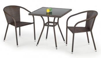 Rattanowy stół do ogrodu z kwadratowym blatem Mobil