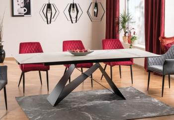 Nowoczesny stół jadalniany Westin III z ceramicznym blatem rozkładanym