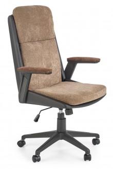 Tapicerowany fotel obrotowy z podłokietnikami Herbic