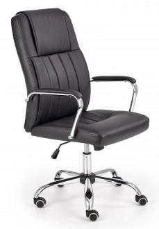 Czarne krzesło obrotowe z ekoskóry Santos