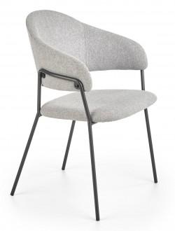 Tapicerowane krzesło do jadalni na metalowej podstawie K359
