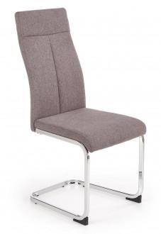 Tapicerowane tkaniną krzesło do jadalni na płozach K370