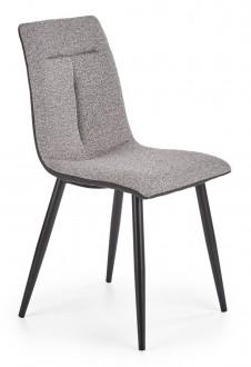 Krzesło tapicerowane tkaniną na metalowej podstawie K374