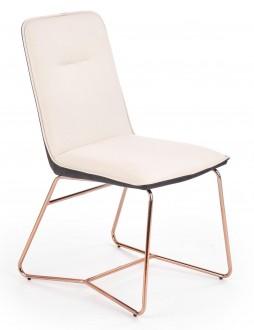 Krzesło z podstawą w kolorze różowego złota K390