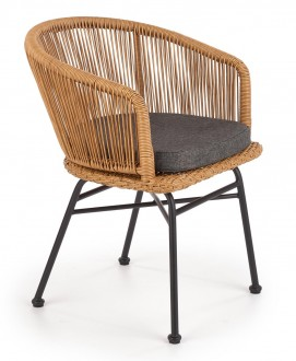 Rattanowe krzesło z podłokietnikami K400