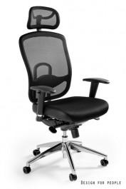 Fotel z zagłówkiem Vip czarny