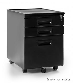 Kontener pod biurko czarny 324-B