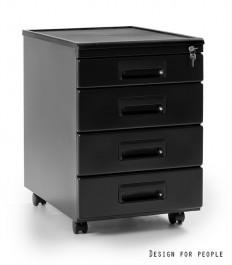 Kontener biurkowy czarny 325-B