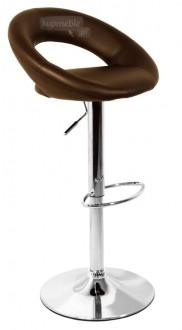 Obrotowy stołek barowy z oparciem Carino