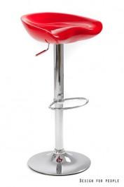 Hoker z czerwonym siedziskiem Club Red