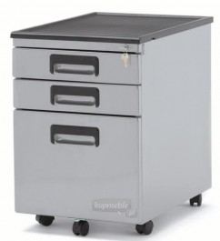 Kontener pod biurko srebrny 324-S