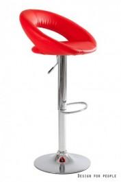 Czerwony stołek barowy Carino Red
