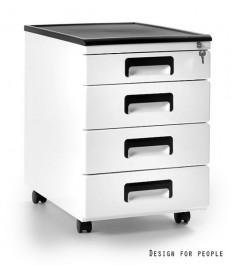 Kontener biurkowy biały 325-W