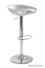 Srebrny stołek barowy Club Silver