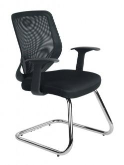 Krzesło konferencyjne Mobi Skid czarne