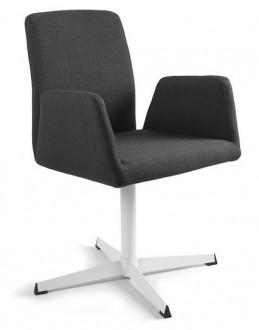 Fotel biurowy tapicerowany Brava czarny