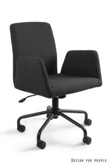 Fotel biurowy tapicerowany Bravo czarny