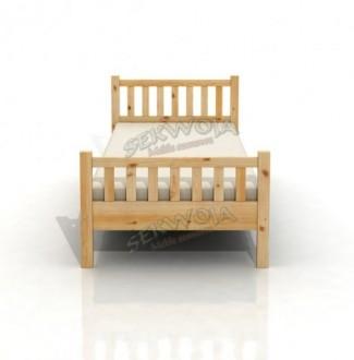 Łóżko z drewna litego Oskar
