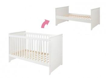 Łóżeczko dziecięce 70x140 Marylou z funkcją tapczanika