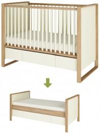 Łóżeczko dziecięce 70x140 Simple z funkcją tapczanika