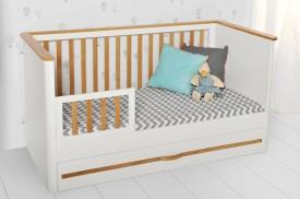 Łóżeczko dziecięce 70x140 z funkcją tapczanika Ruban