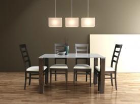 Stół z blatem szklanym Lobby White