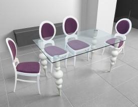 Stół ze szklanym blatem Deluxe