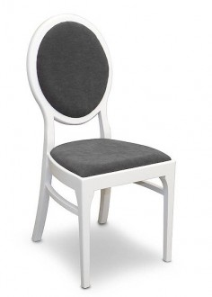Krzesło z tapicerowanym siedziskiem Timi