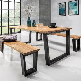 Stół na stalowych nogach Bellini