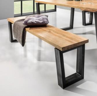 Ławka na stalowych nogach Bellini