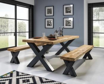 Stół z olejowanym dębowym blatem Maximo
