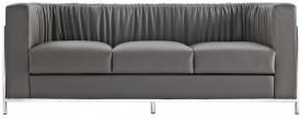 Czarna sofa Balza 3-osobowa