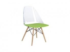 Krzesło na drewnianych nogach Aero Clear