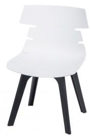 Designerskie krzesło Techno z czarną podstawą