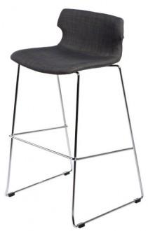 Tapicerowany stołek barowy na płozach Techno